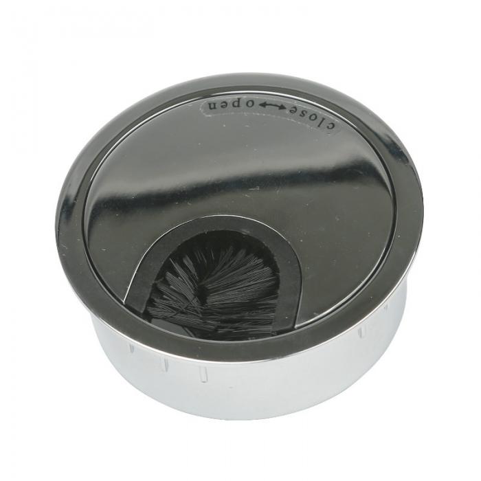 Kabeldoorvoer metaal Ø 60 mm chroom glans  423007.067060023.090 1