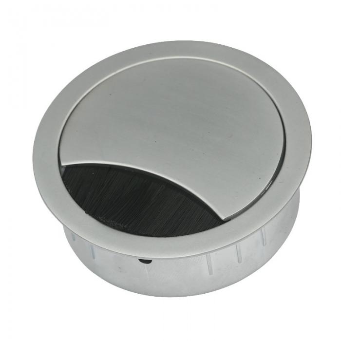 Kabeldoorvoer metaal Ø 60 mm chroom mat  423009.067060023.091 1