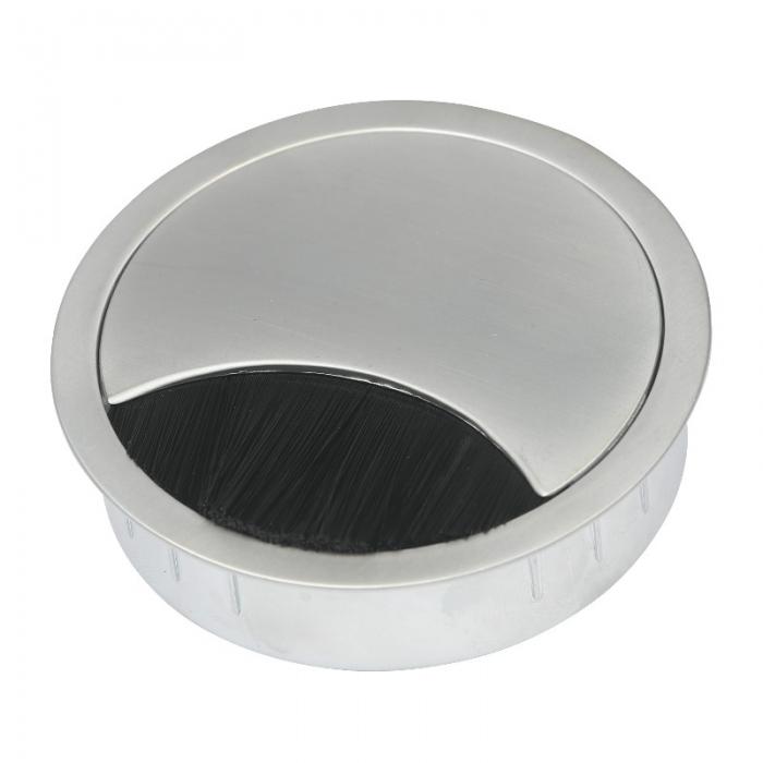 Kabeldoorvoer metaal Ø 80 mm chroom mat  423009.088080023.091 1