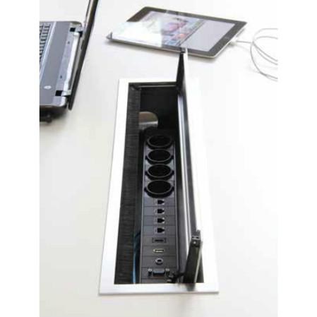 Götessons BI-BOX Kabelbox large + powerinlay 4P1D1V1A1H  721001+721005 2