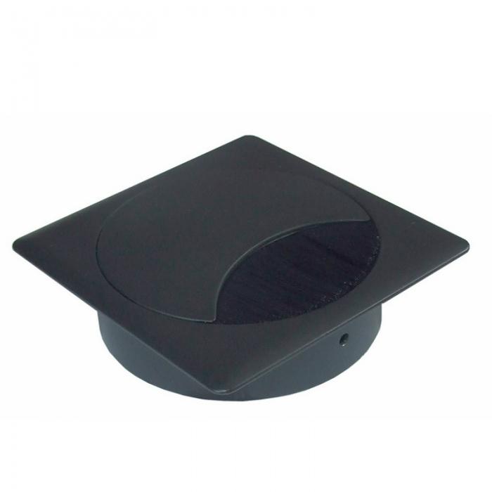 Kabeldoorvoer metaal vierkant zwart  423026.895895080.000 1