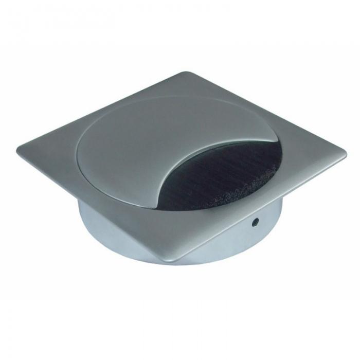Kabeldoorvoer metaal vierkant chroom mat  423026.895895080.091 1