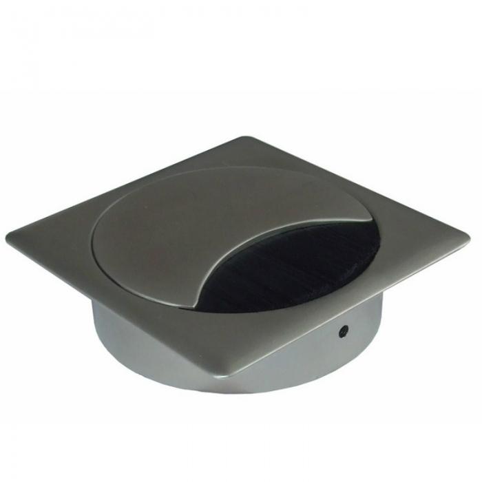 Kabeldoorvoer metaal vierkant RVS finish  423026.895895080.096 1