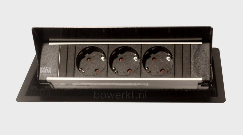 Bachmann CONI inbouwmodule 3x stroom   BM-CONI-KORT-01 1