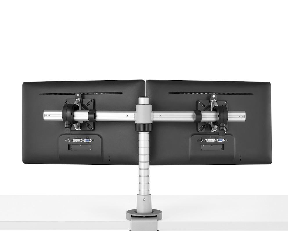Monitorarm CBS Wishbone dubbel  2 x WSH/001/PQR, WSH/B2B + WSH/PST400/K 1