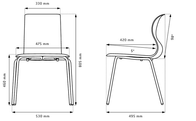 Flötotto Pro Chair gepoedercoat frame  3001.06 2
