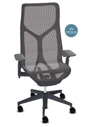 Herman Miller COSM bureaustoel grafiet hoge rug  FLC163SFH G1 G1 G1 BKS BK 84501 1