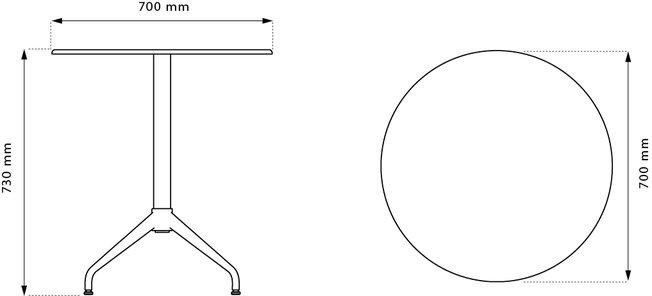 Flötotto Pro 4-poots vergadertafel  1008.06.98 2