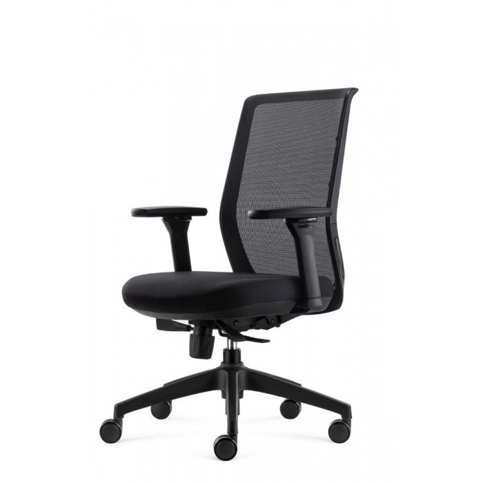 Bowerkt bureaustoel FYC 237 - ERGO4 - zwart  FYC 237 - ERGO 4-zwart 1