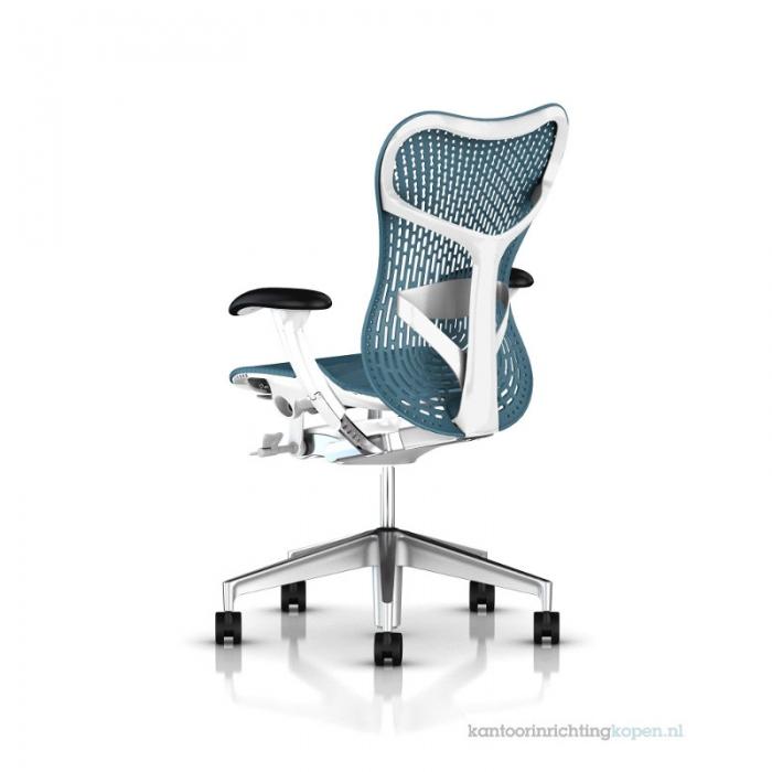 Herman Miller Mirra 2 turquoise bureaustoel MRF132  MRF132AWAP N2 6KA BB DTR BK 3