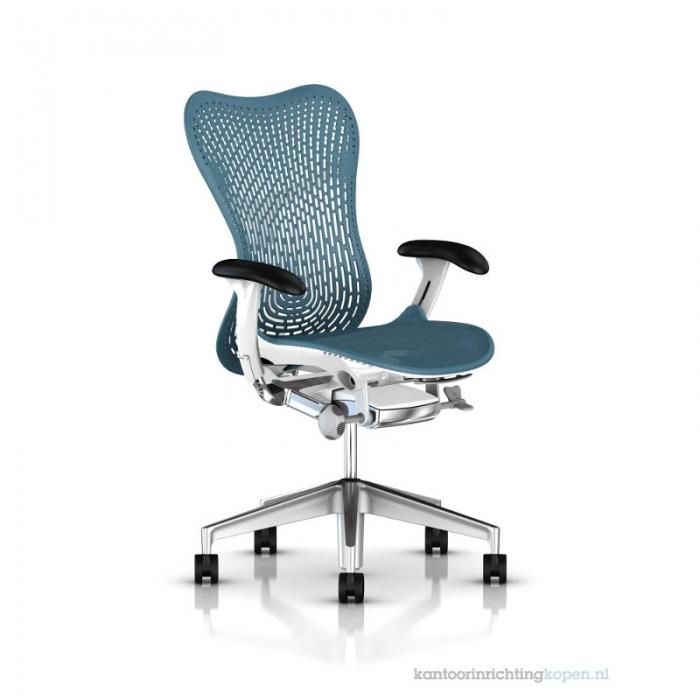 Herman Miller Mirra 2 turquoise bureaustoel MRF132  MRF132AWAP N2 6KA BB DTR BK 1