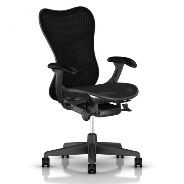 Herman Miller Mirra 2 bureaustoel MRF133 met gestoffeerde rug  MRF133AWAFAJG1BBG18M17BK1A703-SLA 1