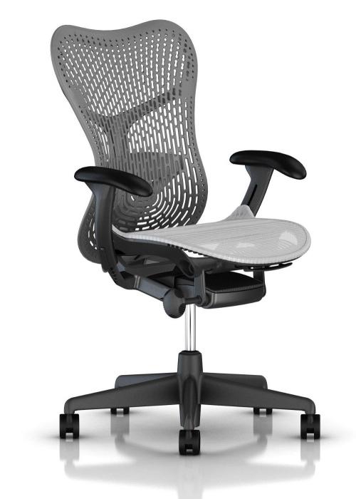 Herman Miller Mirra 2 alpine bureaustoel MRF131  MRF131AWAP N2 G1 BB SG BK 1