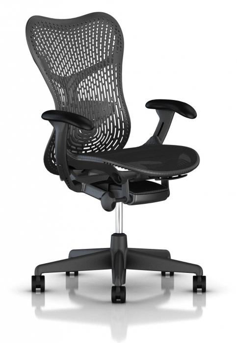 Herman Miller Mirra 2 graphite bureaustoel MRF131  MRF131AWAP N2 G1 BB G1 BK 1