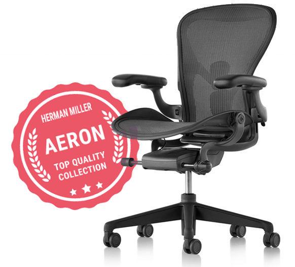 Herman Miller AERON - Maat C  AER1C33DWALPG1G1G1BBBK23103-SLA 1