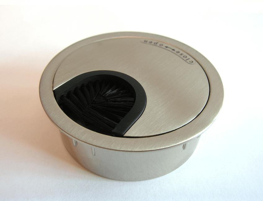 Kabeldoorvoer metaal Ø 60 mm chroom mat  423007.066000022.091 1