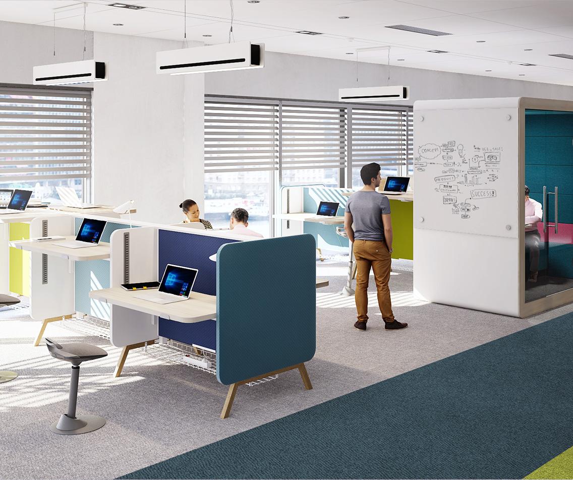 Mikomax Stand Up bureau Duo hoogte-verstelbaar H1250  STA-BS-203 3