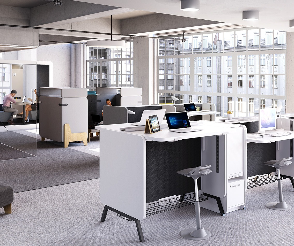 Mikomax Stand Up bureau Duo hoogte-verstelbaar H1250  STA-BS-203 6