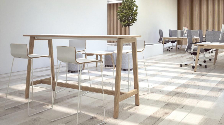 Narbutas Nova Wood hoge vergadertafel 1600 x 700 x 1050 mm  CNM166 3