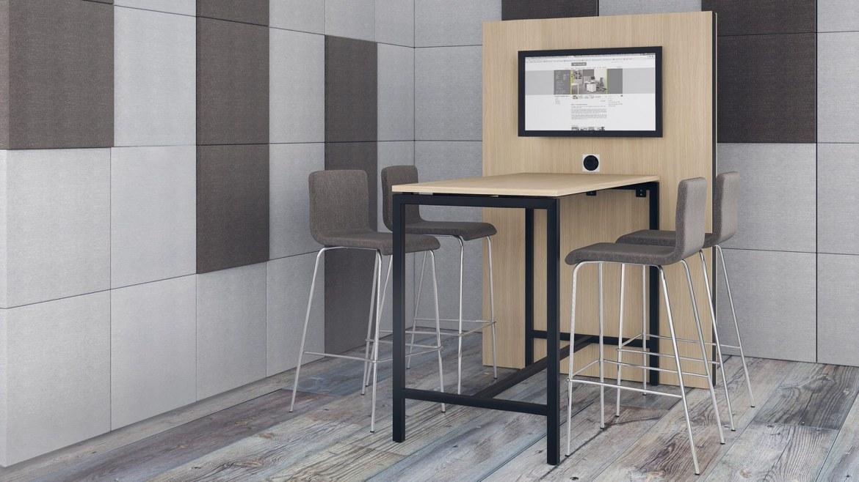 Narbutas Nova hoge vergadertafel 1600 x 700 x 1050 mm  CNM165 3
