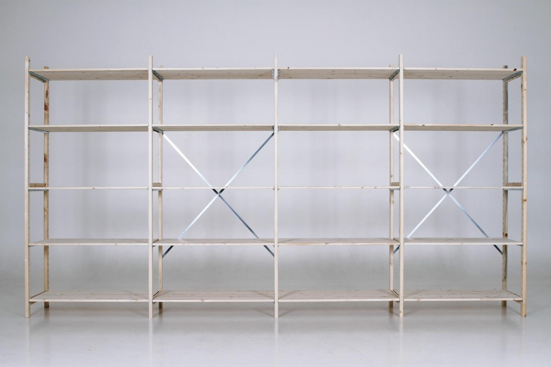 QuickRack Eurorek houten stelling basis 210 cm hoogte   QREB21.10.04.5 3