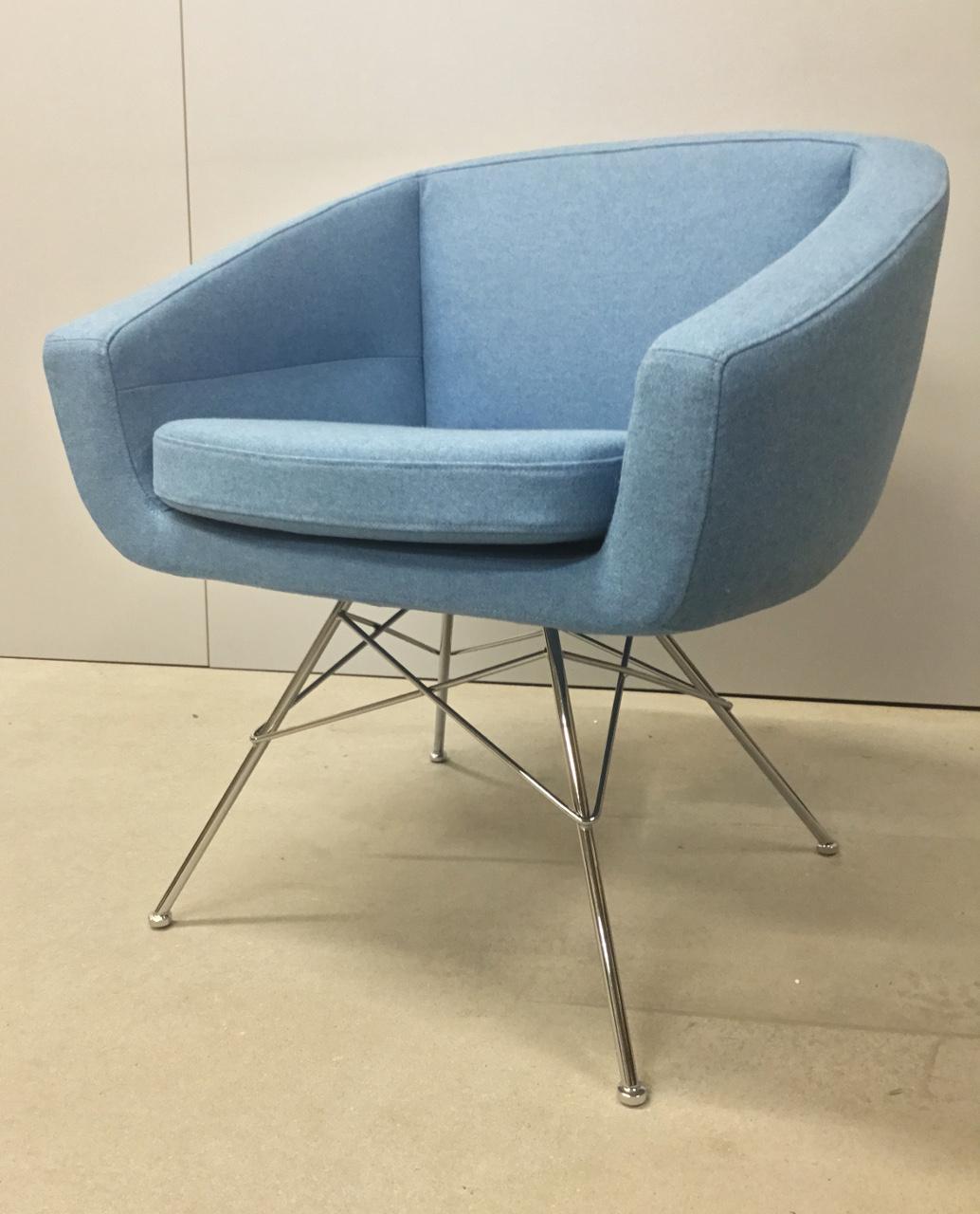 Softline AIKO vergaderstoel blauw  2-591-OUT 1