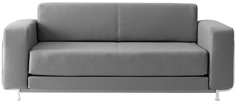 Softline Silver loungebank   2-543 1