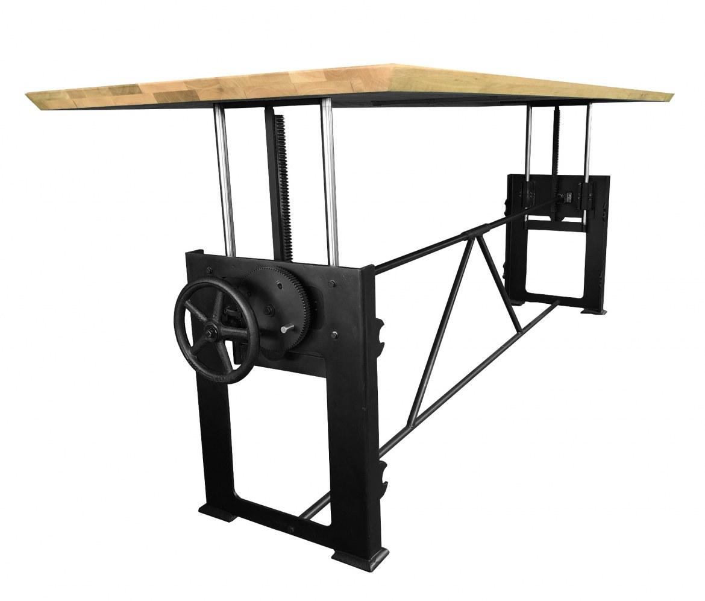 Bowerkt Industriële hoogte verstelbare tafel 280 x 100 cm  BO280100 2