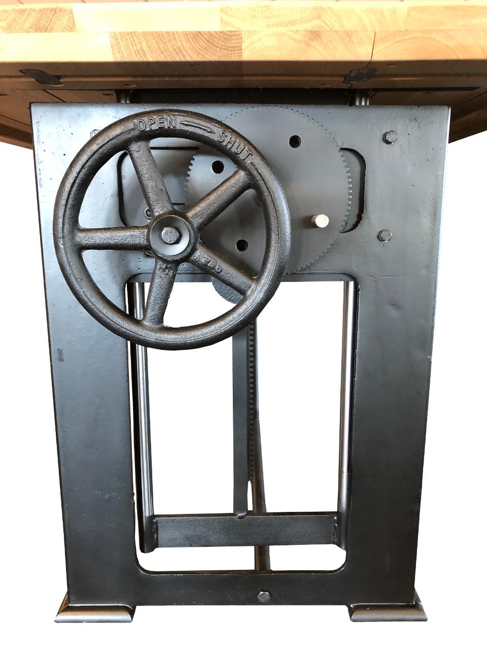 Bowerkt Industriële hoogte verstelbare tafel 280 x 100 cm  BO280100 3