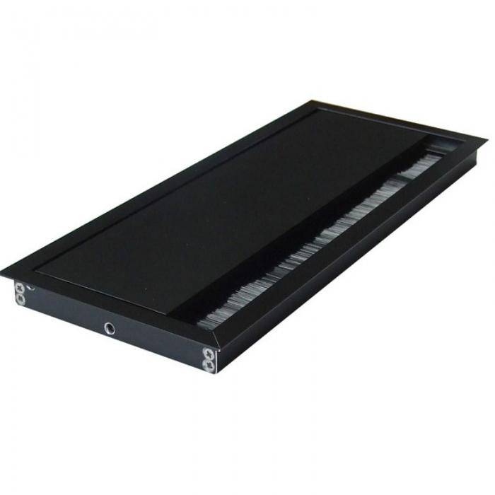 Kabeldoorvoer 100x240x13mm zwart met softclose sluiting  423011.100240135.000 1