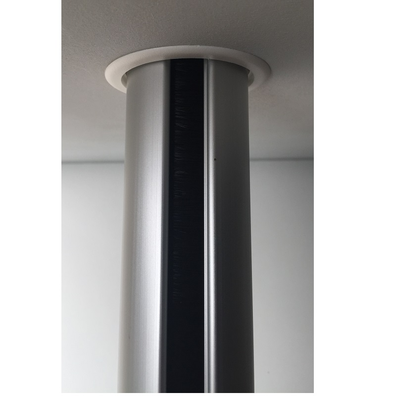 Aluminium buiszuil van vloer tot plafond wit   470550.000000000.001 6