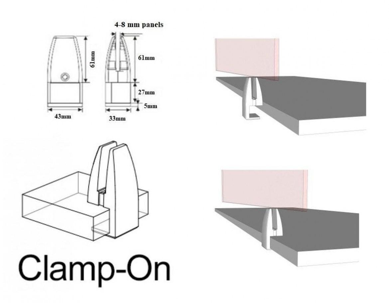Thovip Plexi opzetscherm met bladklemmen 1580 x 640 mm   100020.158064005.009   3