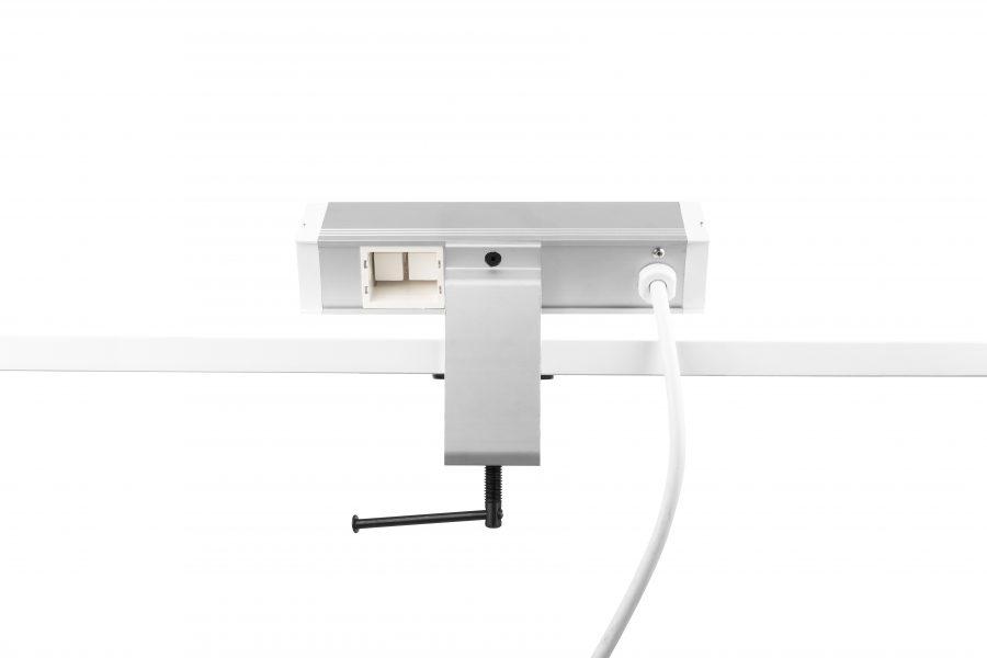 Thovip Power Desk up 2 x stroom + 1 x leeg (alu/wit)  4730017.02010000.001 2