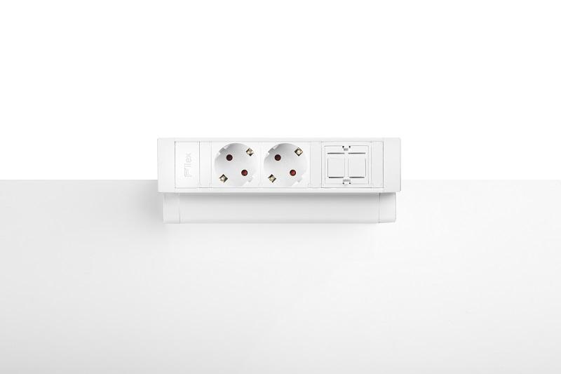 Thovip Power Desk Up 2.0 - 2x Stroom + 1 x lege module   4730014.02010000 3