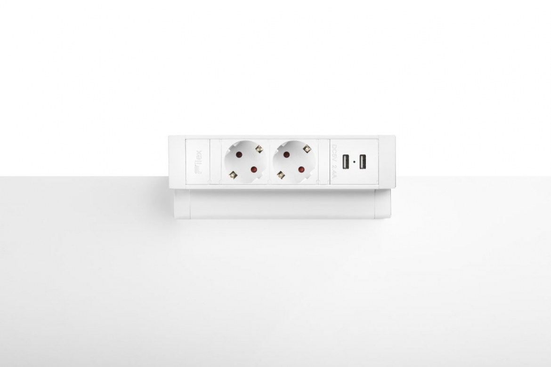 Thovip Power Desk Up 2.0 - 2x Stroom + 2x USB charger  4730014.02020000 3
