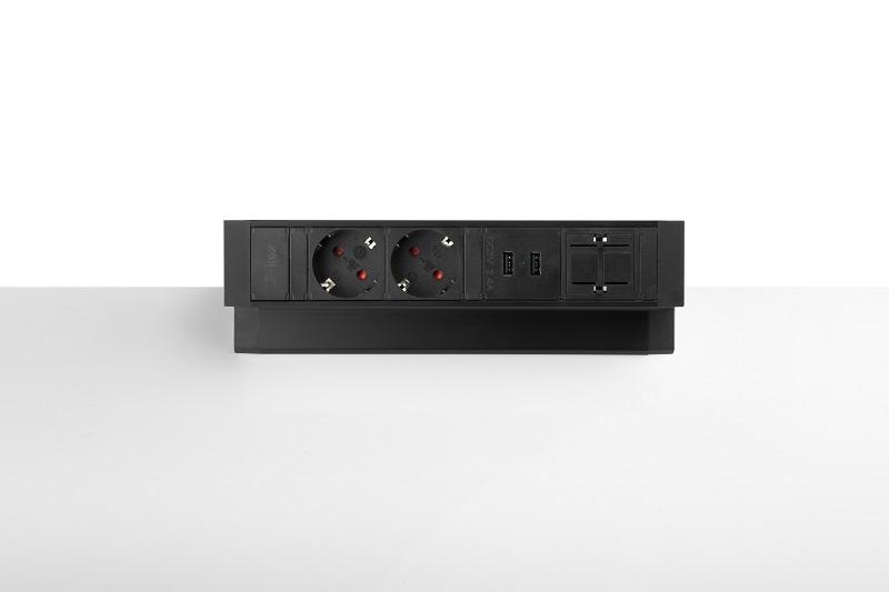 Thovip Power Desk Up 2.0 - 2x Stroom + 2x USB charger + 1 x lege module  4730014.02020100 1