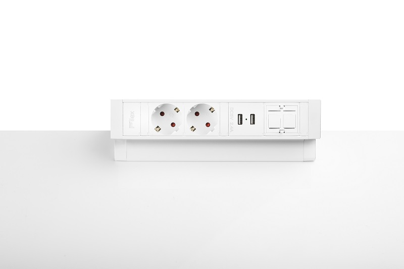 Thovip Power Desk Up 2.0 - 2x Stroom + 2x USB charger + 1 x lege module  4730014.02020100 3