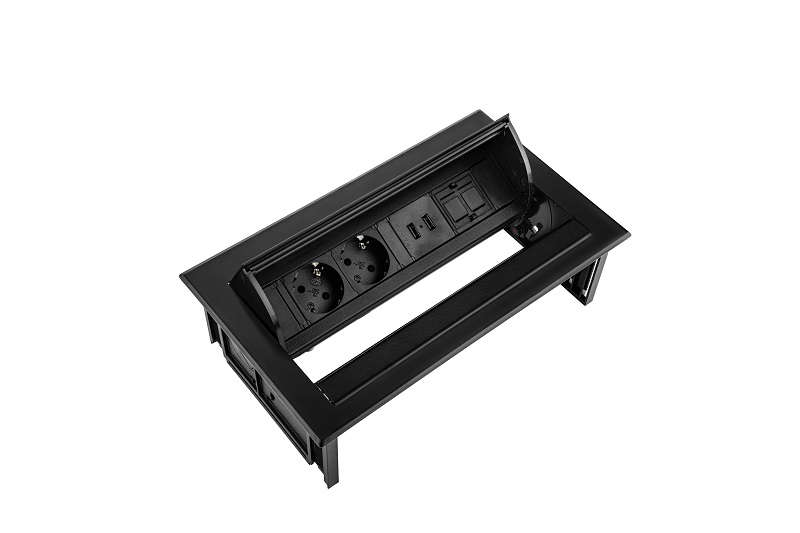 Thovip Power Desk IN 2 x stroom + 2 x USB charger + 1 x leeg   4730067.02020100 2