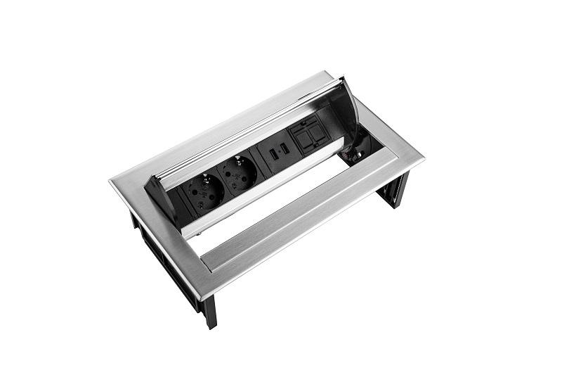Thovip Power Desk IN 2 x stroom + 2 x USB charger + 1 x leeg   4730067.02020100 6