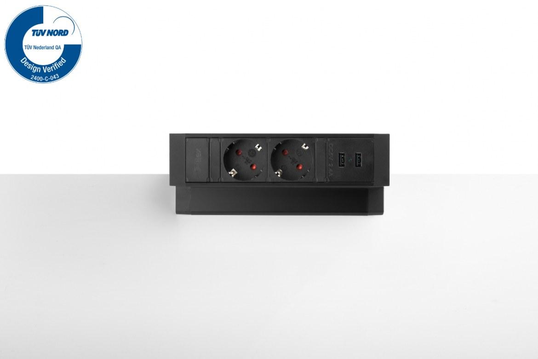 Thovip Power Desk Up 2.0 - 2x Stroom + 2x USB charger  4730014.02020000 1
