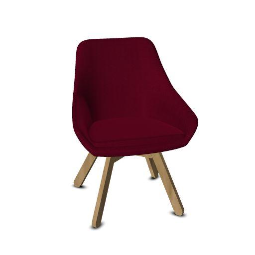 Viasit Calyx loungestoel eiken onderstel  903.0000 1