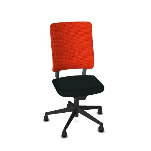 Viasit Drumback bureaustoel staalgrijs  450.1000 1