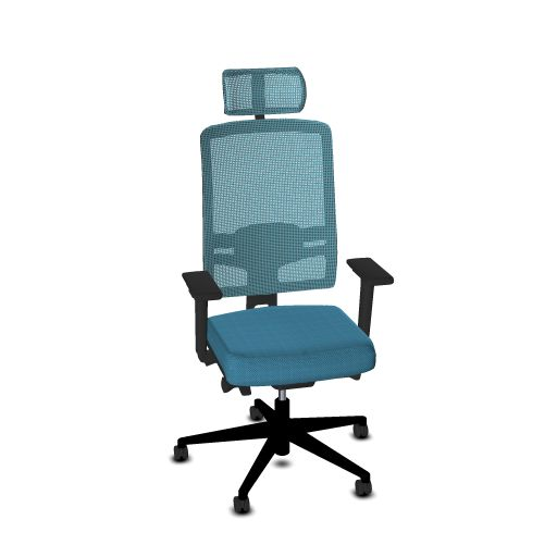 Viasit Bureaustoel F1 Netweave Full Option  614.1020FO 1