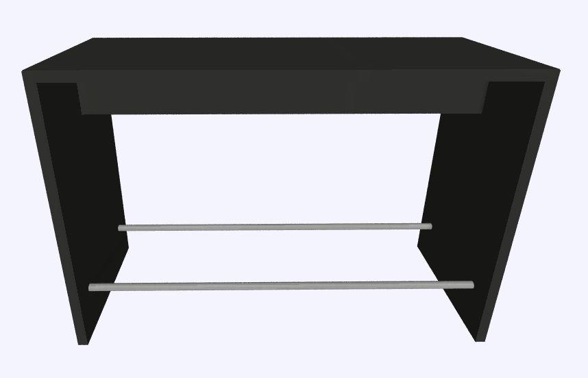Werner Works K-Modul Stand voetensteun 160 x 80 cm  KMS-160R 1