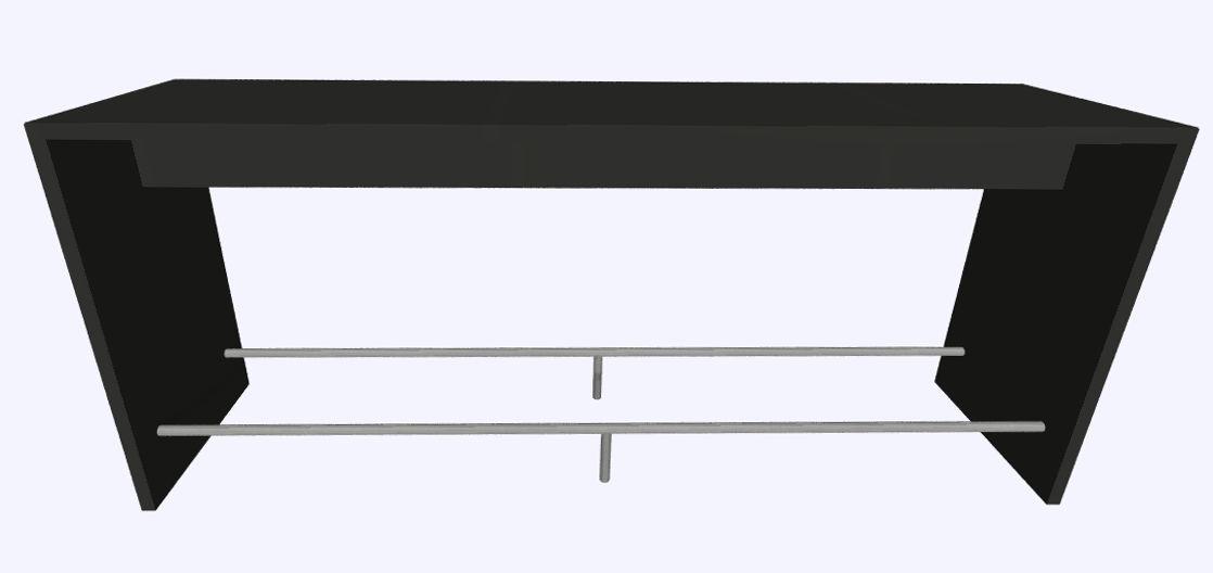 Werner Works K-Modul Stand voetensteun 260 x 60 cm  KMS-260R 1