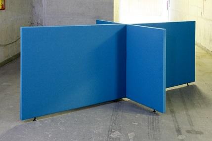 Akoestische scheidingswand B-MoVe X-opstelling 1600 mm  B-MoVe X-160080058 1