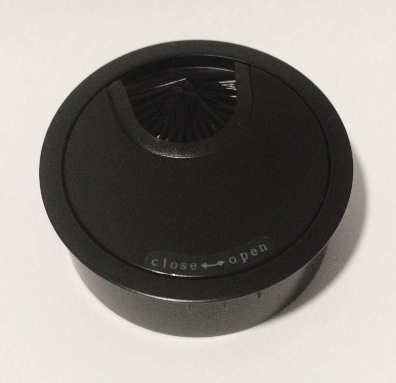Kabeldoorvoer metaal Ø 66mm mat zwart gelakt