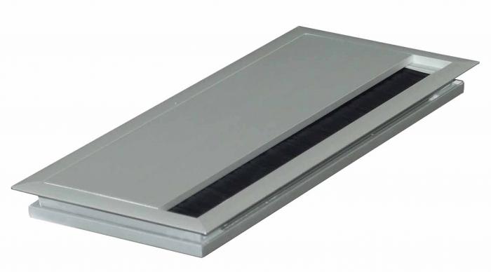 Kabeldoorvoer 100x240x13mm aluminium met softclose sluiting