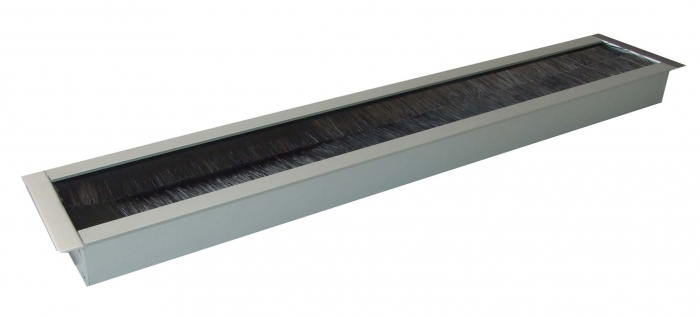 Kabeldoorvoer 45 x 427 x 19mm Aluminium recht