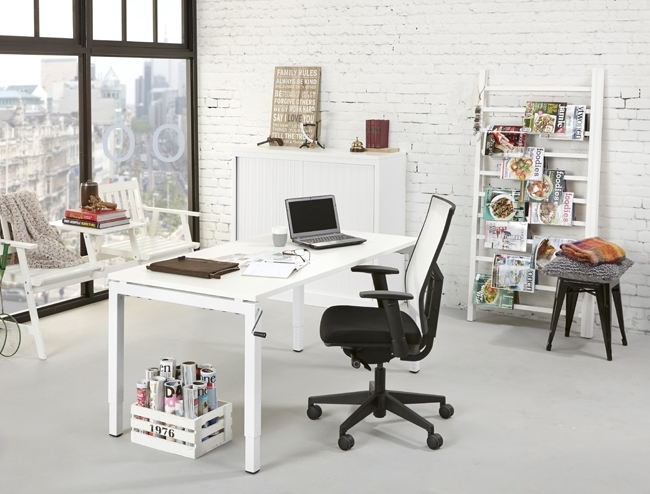 Orange Office 4-poots Bureau met slingerverstelling 140 x 80 cm